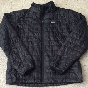 Patagonia quilted Jacket. Men's L. Black.